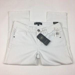Wit & Wisdom Women's White Denim Pants Sz 2 Crop